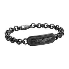 Gravur Herren Armband MIB Onset aus schwarzem Edelstahl