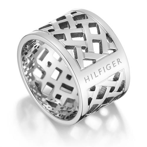 Tommy Hilfiger verflochtener Ring silber 2700743