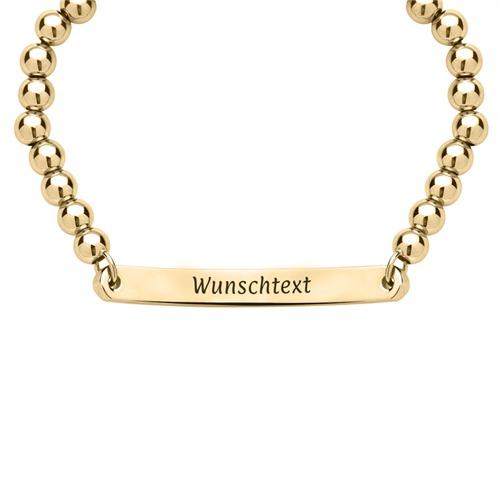 gravierbares Armband gold