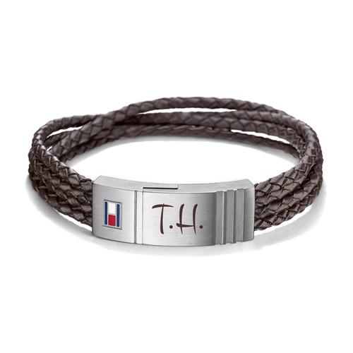 Gravierbares Armband Leder braun