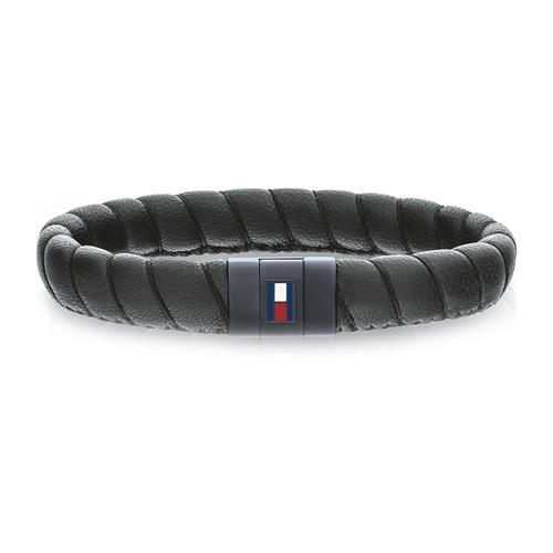 Armband Men´s Casual aus schwarzem Leder