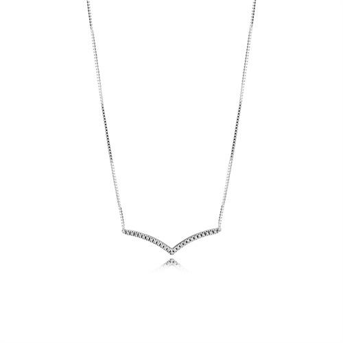 925er Silberkette Shimmering Wish mit Zirkonia