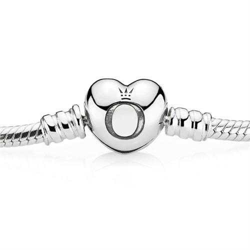 Armband 925er Silber Herzverschluss
