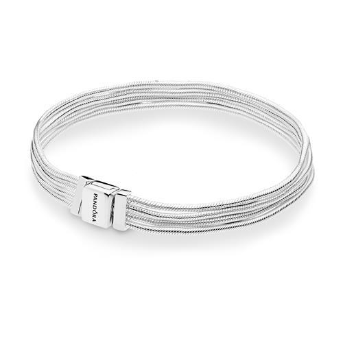 Reflexions Armband Multi Snake Chains aus 925er Silber