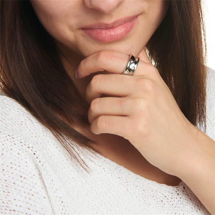 Damenring Gomena aus Edelstahl gravierbar