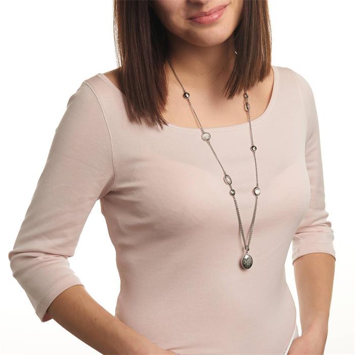 Gravierbare Kette Manina für Damen aus Edelstahl