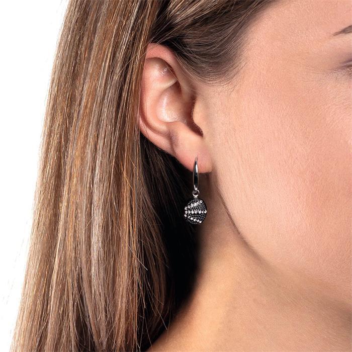 Ohrhänger Dina für Damen aus Edelstahl mit Kristallen