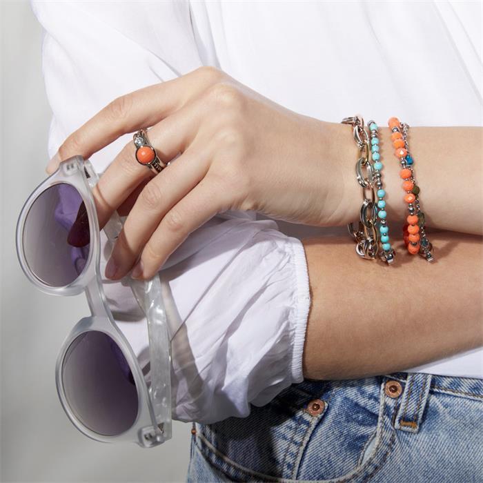 Damen Armband Debora Darlin´s Edelstahl Türkis