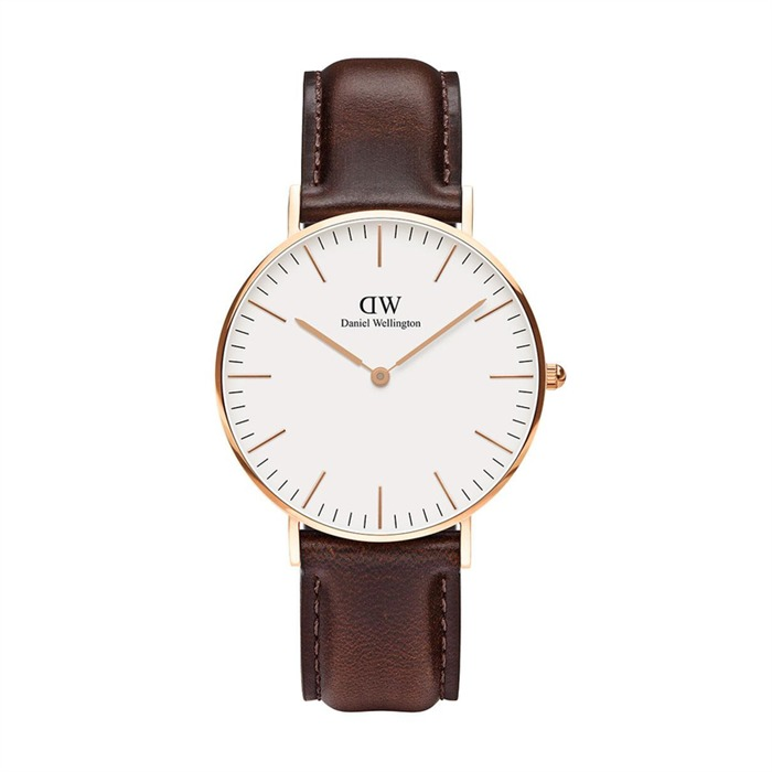 daniel wellington uhr bristol ros gold 36mm 0511dw. Black Bedroom Furniture Sets. Home Design Ideas