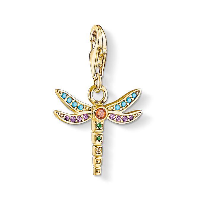 Charm Libelle aus vergoldetem Sterlingsilber