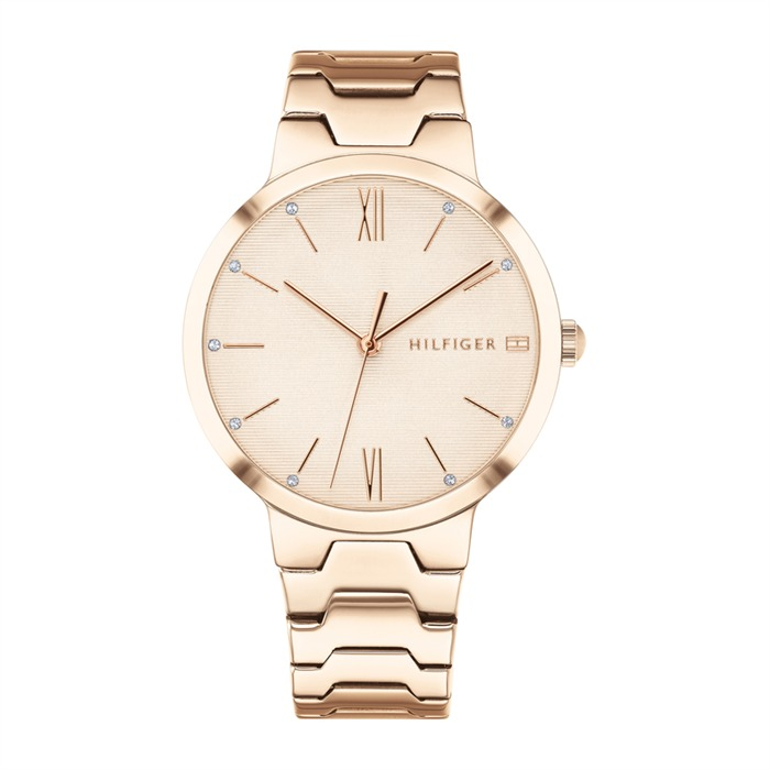 Uhr Avery für Damen aus rosévergoldetem Edelstahl