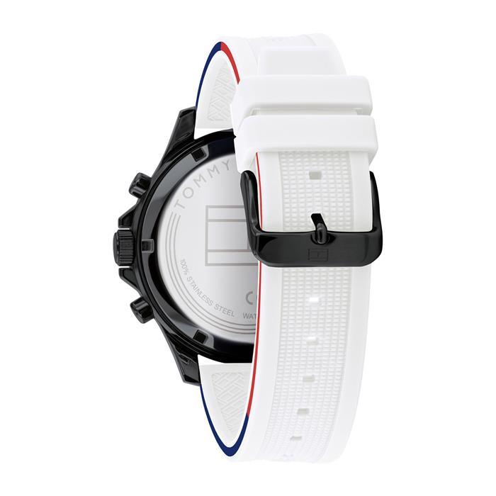 Multifunktionale Herrenuhr Casual mit Silikonband, weiß
