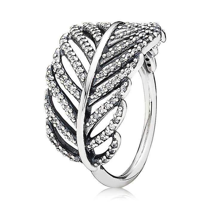925 Silber Ring mit Zirkonia-Pavée