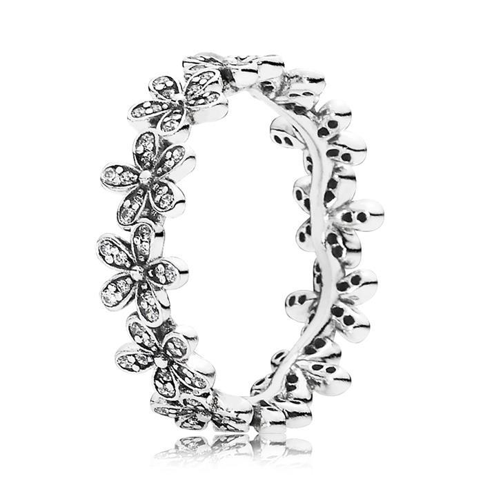 Ring Zirkonia-Blüten 925er Silber