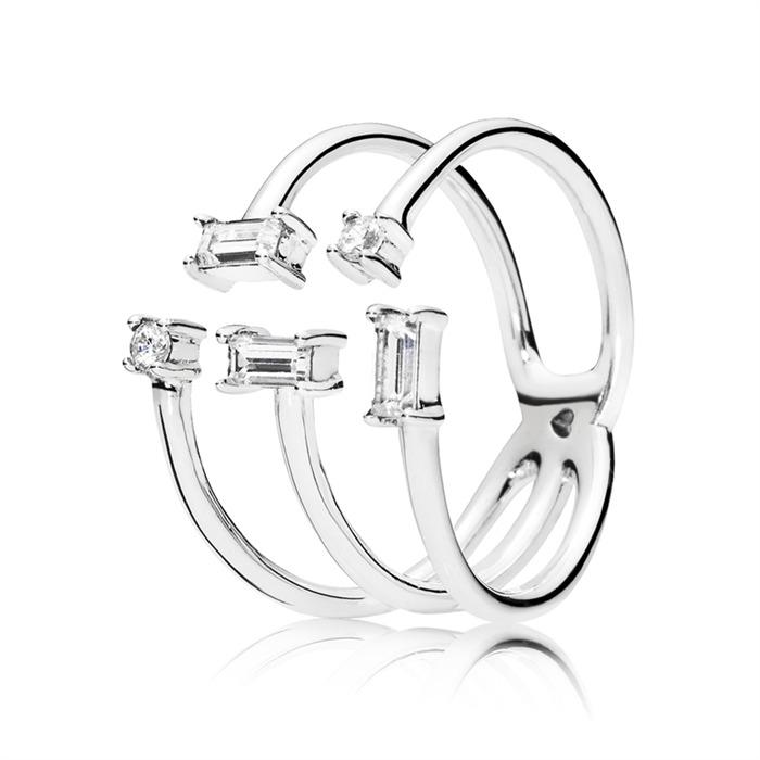 Ring Shards of Sparkle aus Sterlingsilber mit Zirkonia