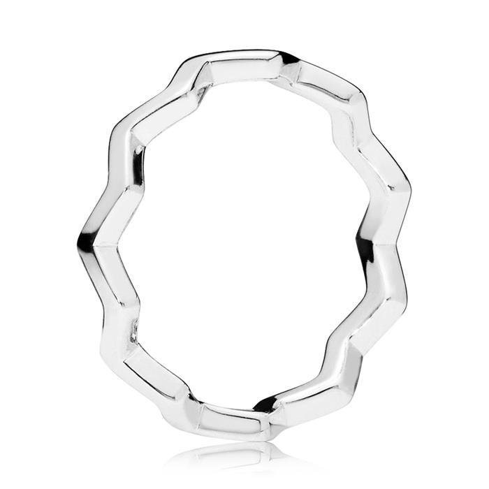 Ring Timeless Zigzag aus Sterlingsilber