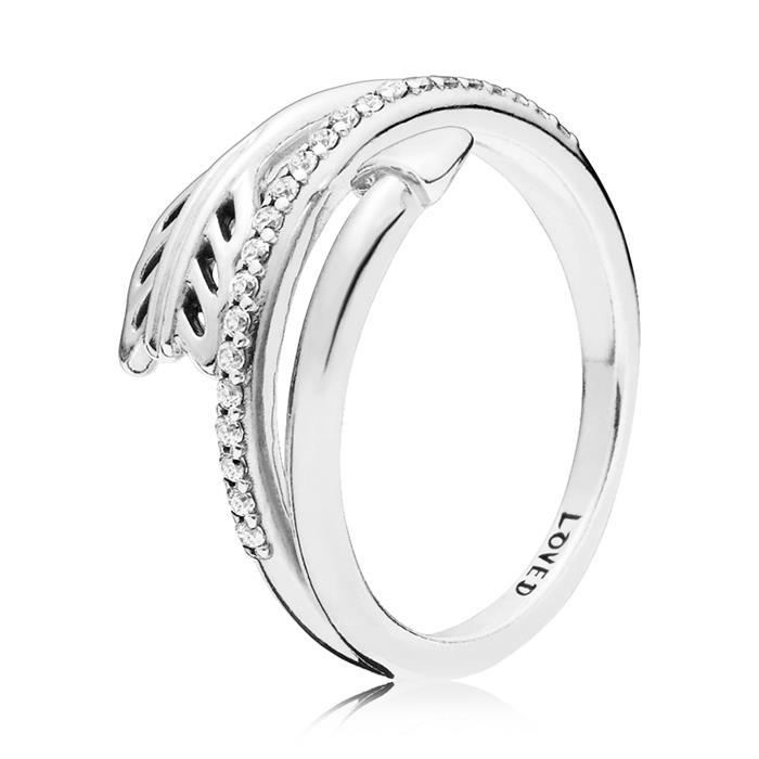 Ring Sparkling Arrow aus 925er Silber mit Zirkonia