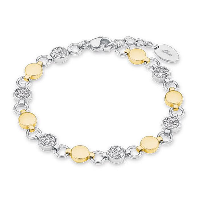 Armband für Damen aus Edelstahl, teilvergoldet