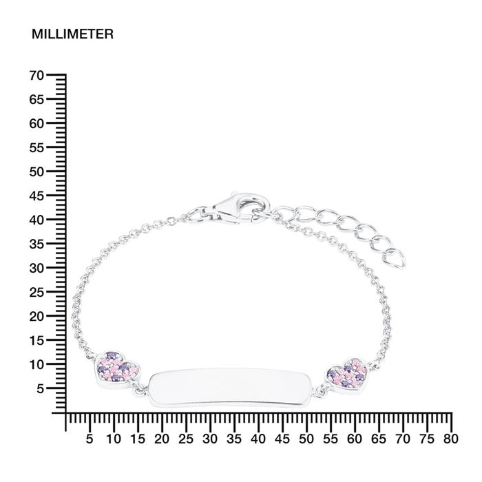 Prinzessin Lillifee Ident-Armband mit Pferd Silber 925 WUNSCHGRAVUR