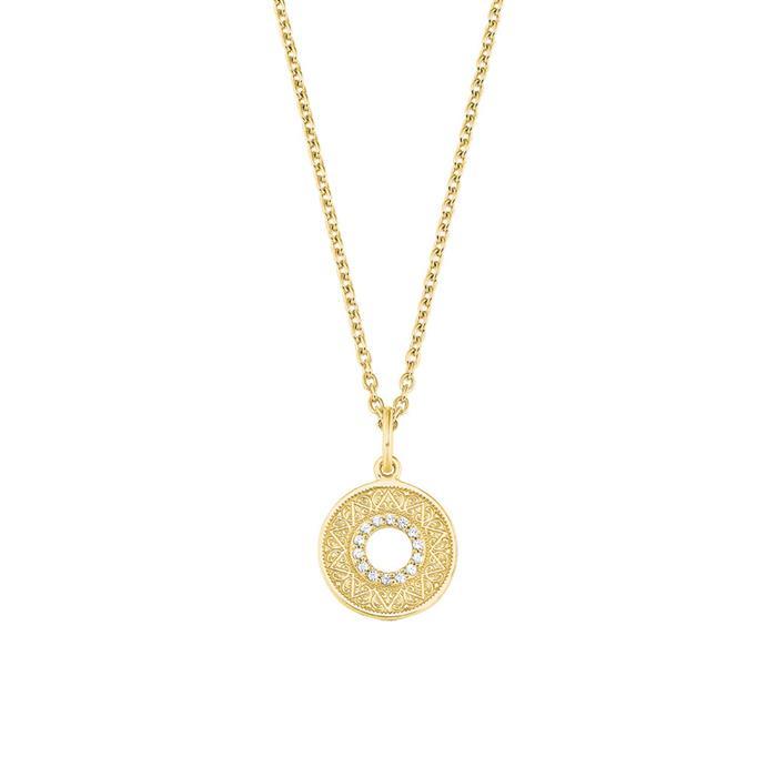Halskette Coin für Damen aus Sterlingsilber, vergoldet