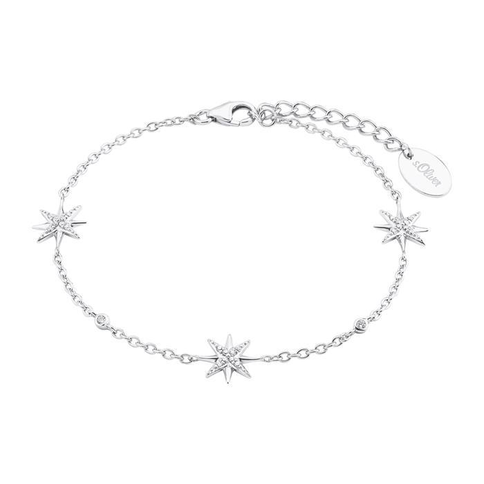 Damenarmband Sterne aus 925er Silber mit Zirkonia