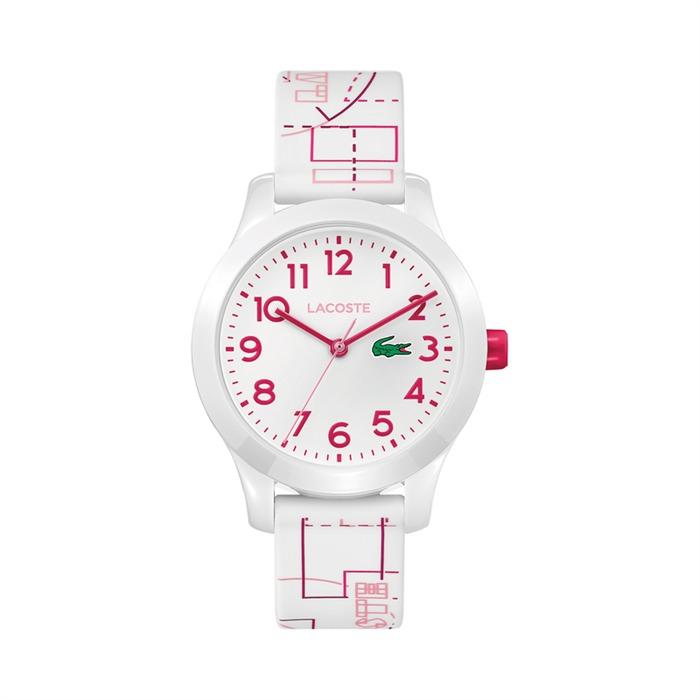 Uhr für Mädchen mit Quarzwerk weiß pink