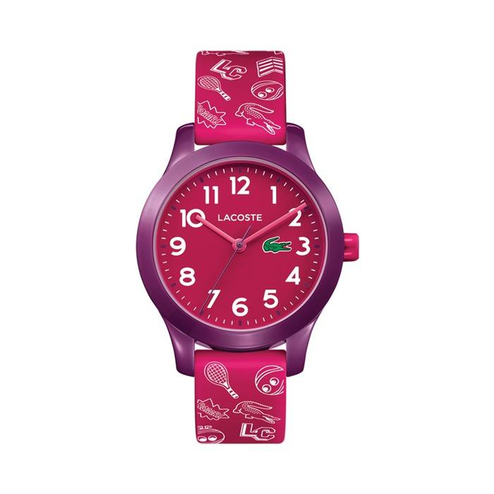 Kinderuhr Tennis mit Quarzwerk pink lila