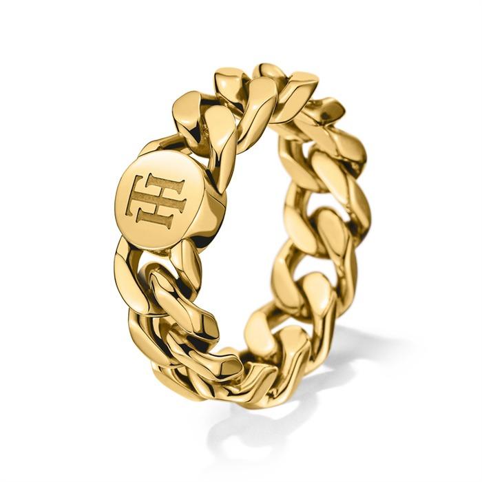Edelstahl-Ring IP Gold
