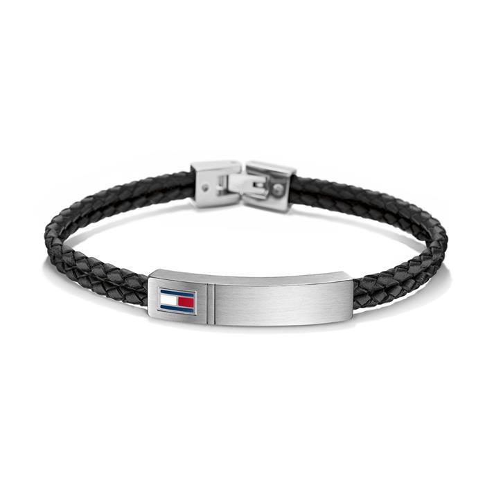 Armband Leder schwarz gravierbar