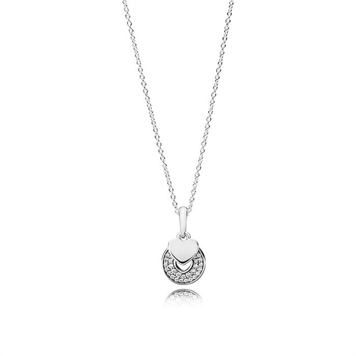 Halskette 925er Silber Zirkonia