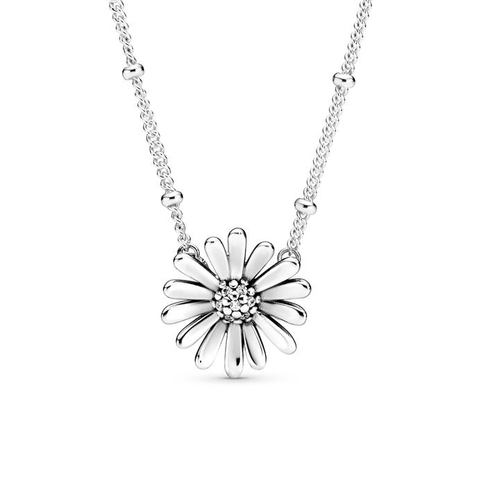 Halskette Gänseblümchen aus 925er Silber mit Zirkonia