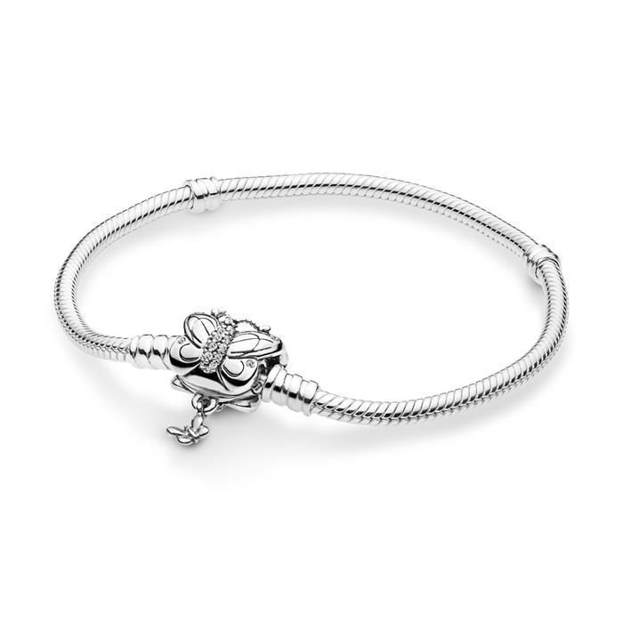 925er Silberarmband mit Schmetterlings-Verschluss