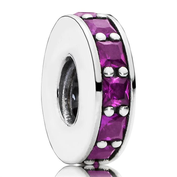 Violetter Spacer Kristall Silber