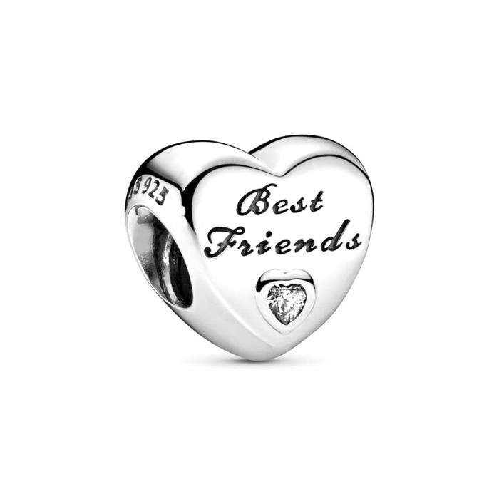 Best Friends Charm 925er Silber Zirkonia