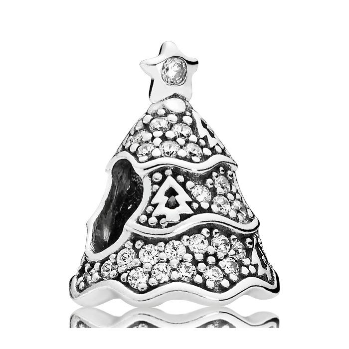 Weihnachtsbaum Charm 925er Silber