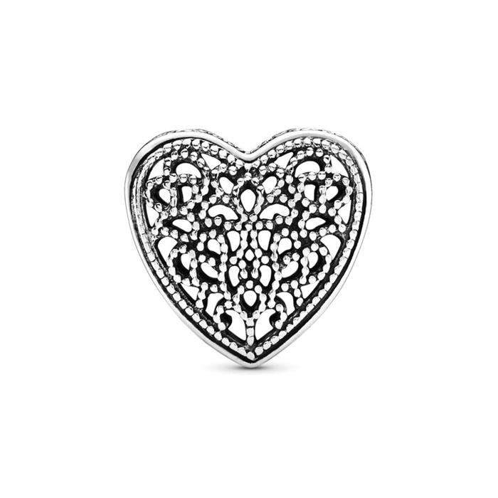 Charm in Herzform 925er Silber