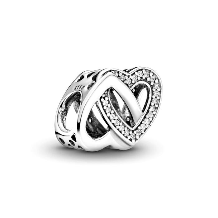 Charm Herzen doppelt 925er Silber