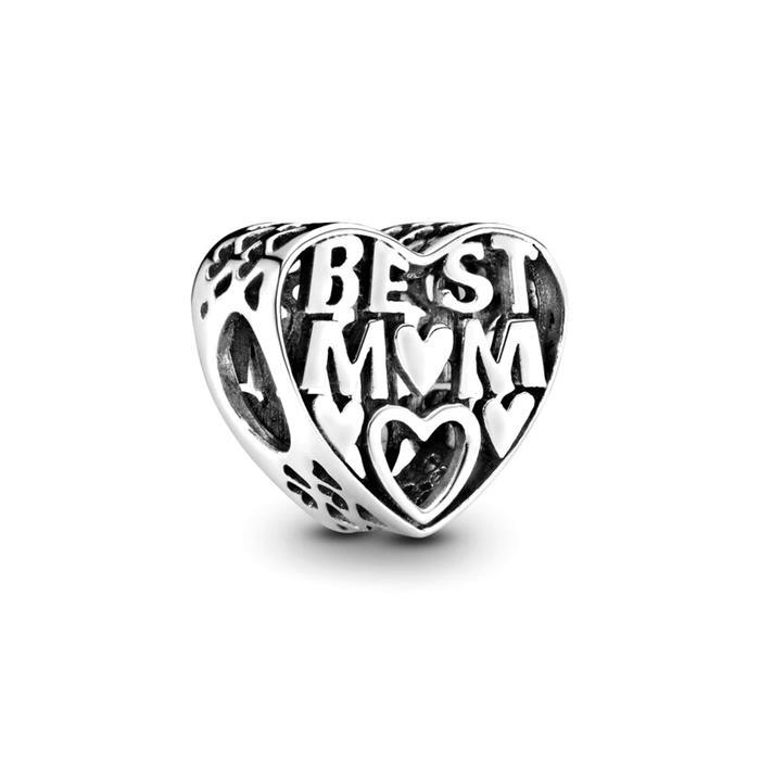 Herz Charm 925er Silber Best Mom