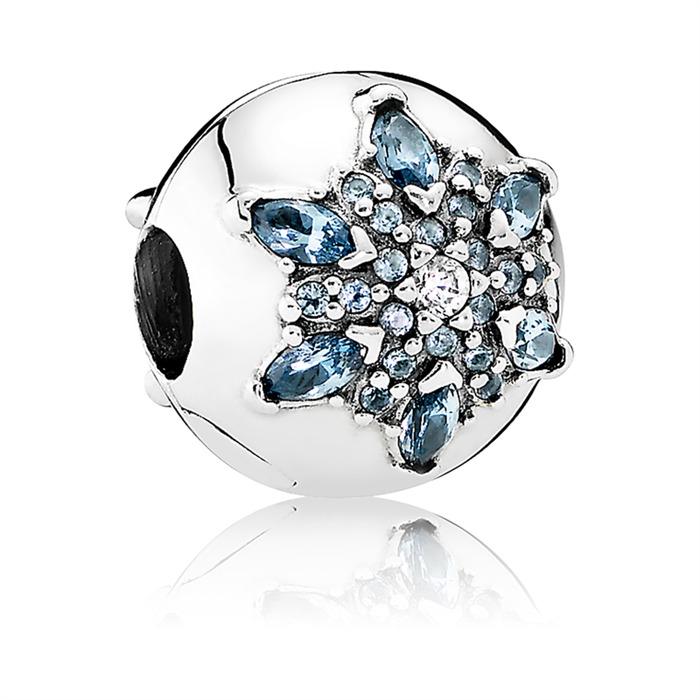 Kugel-Bead 925er Silber Eiskristall
