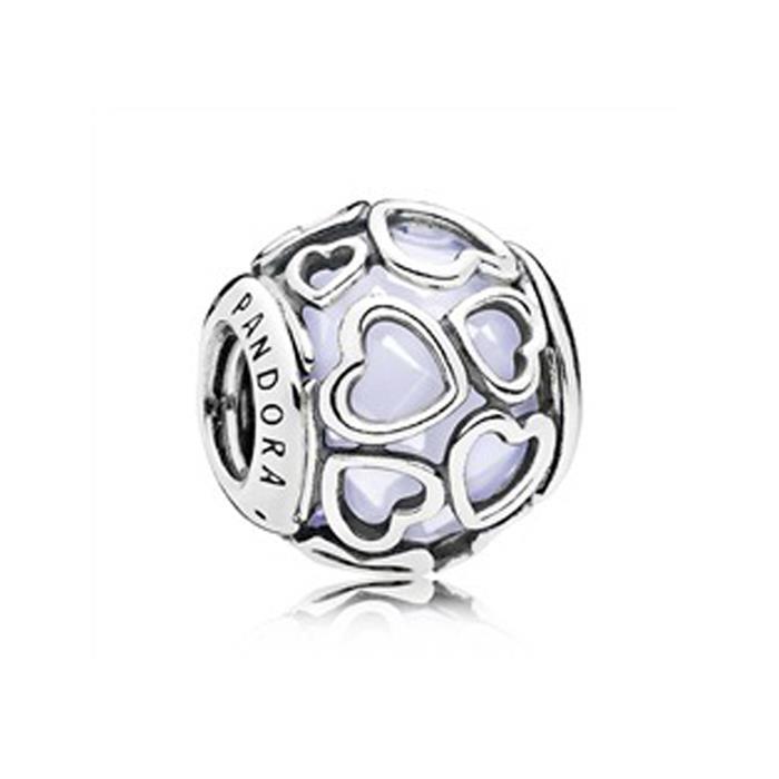 Bead Liebe umhüllt Silber Weiß