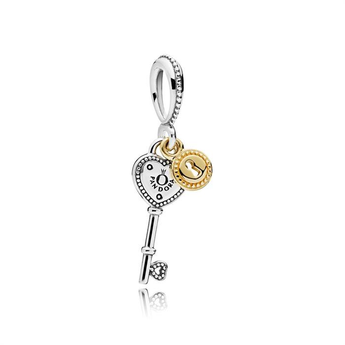 Charm Schlüssel zum Herzen 925er Silber