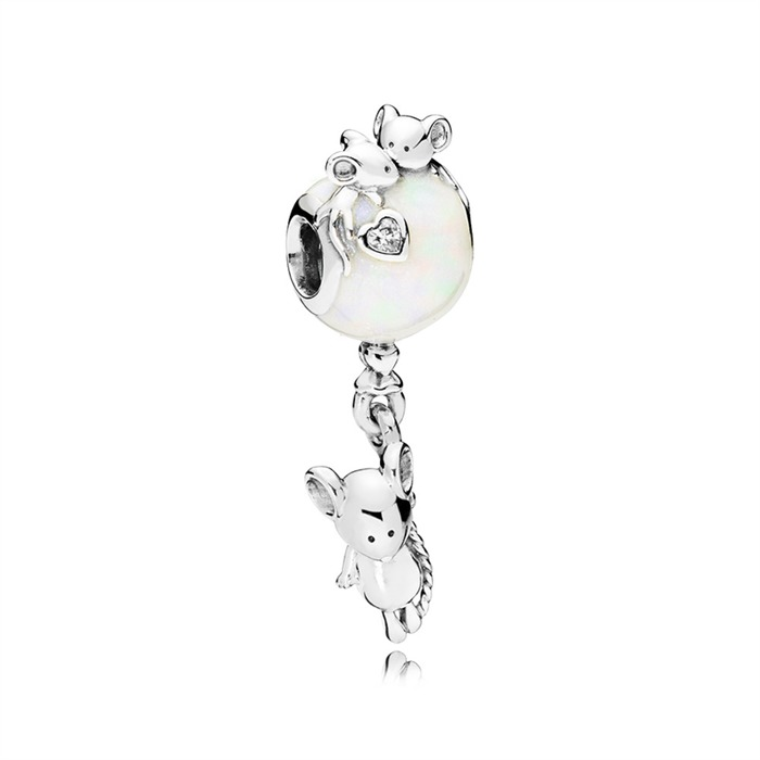 Charm Mouse and Ballon 925er Silber PANDORA