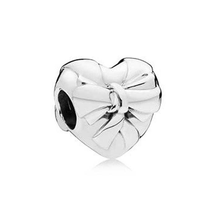 925er Silber Bead Brilliant Heart Bow