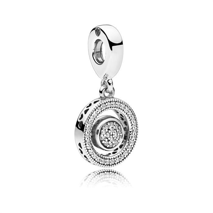 SIGNATURE Charm Spinning 925er Silber Zirkonia