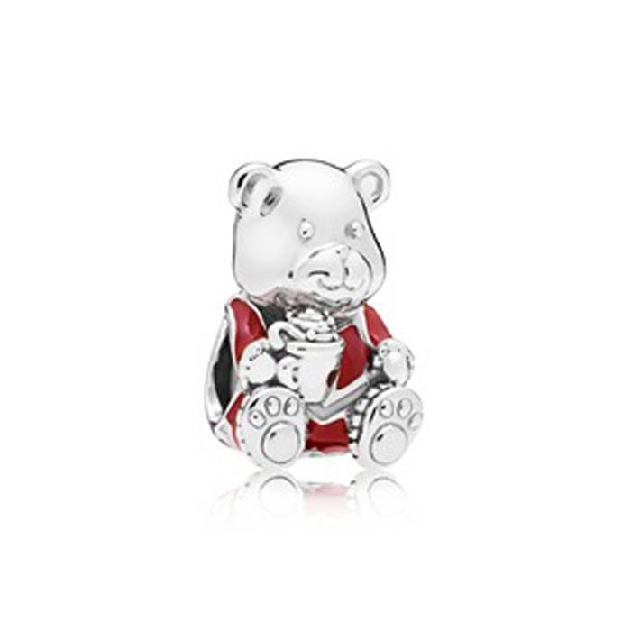 Sterlingsilber Charm Christmas Bear