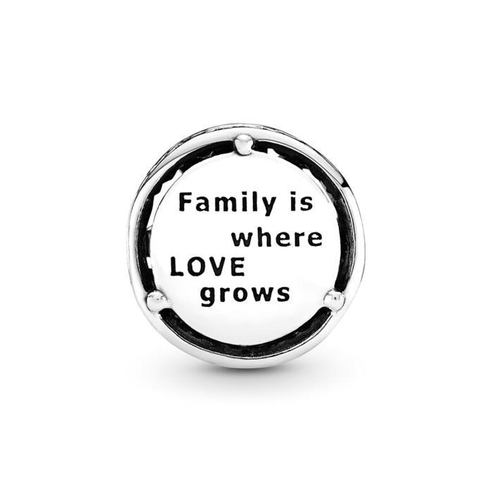 Charm Family Roots 925er Silber und Herzen