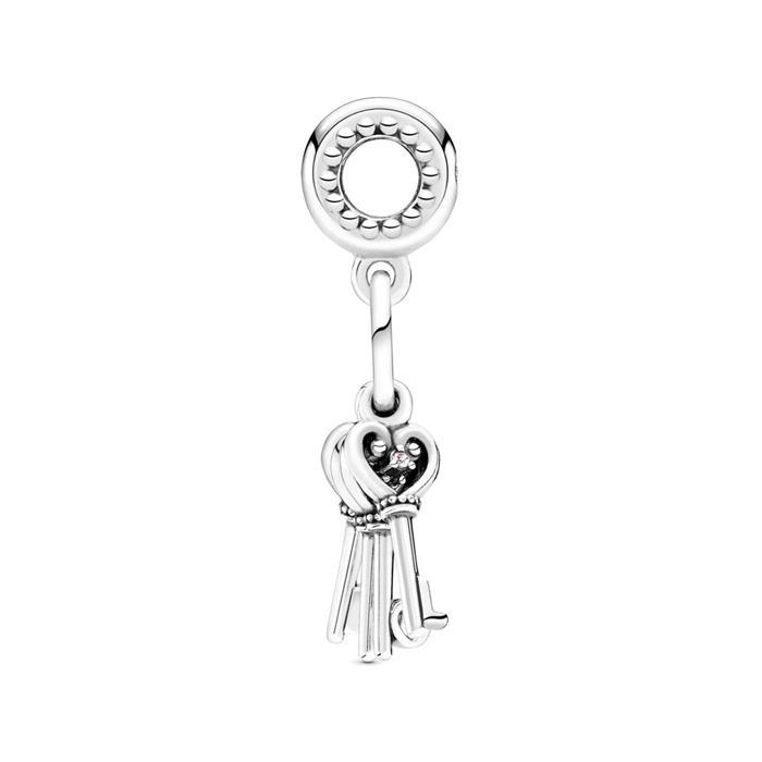 Charm Anhänger Keys Of Love aus Sterlingsilber