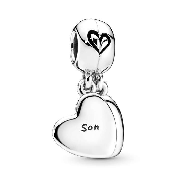 Teilbarer Charm Anhänger Mutter und Sohn, 925er Silber