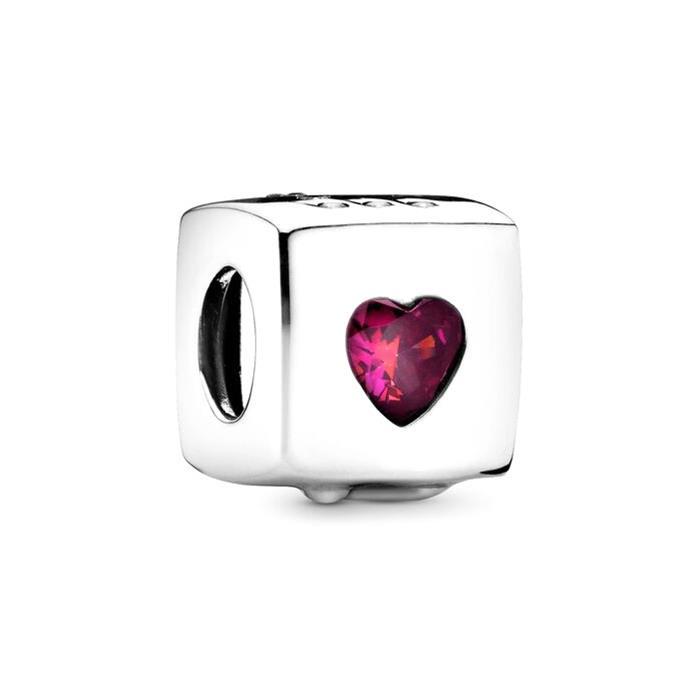 Charm Love dice aus 925er Silber mit Zirkonia