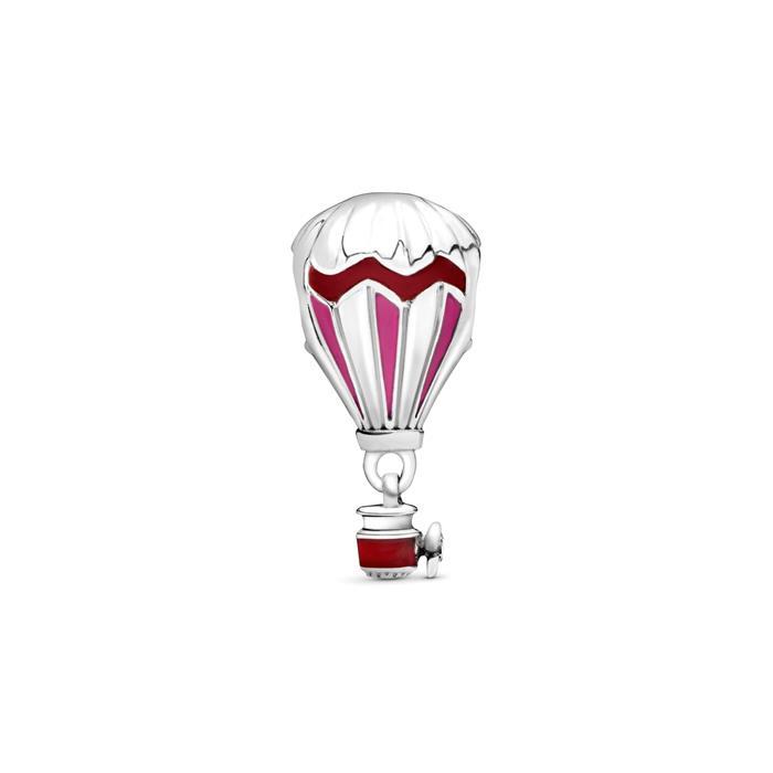 Slide Charm Red Hot Air Ballon aus Sterlingsilber